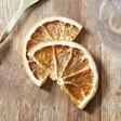 Dried Orange Slices Drink Garnish Flat Lay