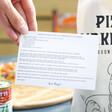 Buon Appetito Pizza Kit Recipe Card
