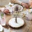 Large Personalised Engraved Wedding Glass Dome Centrepiece