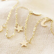 Ladies' Gold Stainless Steel Moon and Stars Anklet From Lisa Angel