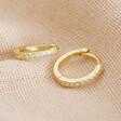Ladies' Gold Sterling Silver Crystal Bar Huggie Hoop Earrings