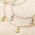 Lisa Angel Stainless Steel Butterfly Anklet Available in Gold and Silver