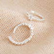Sterling Silver Crystal Huggie Hoop Earrings