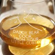 Close Up of Personalised 'Daddy Bear' Whiskey Glass