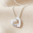 Lisa Angel Hypoallergenic Personalised Mini Sterling Silver Family Names Heart Necklace