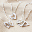 Lisa Angel Ladies' Personalised Mini Sterling Silver Family Names Heart Necklace