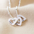 Lisa Angel Hand-Stamped Personalised Mini Sterling Silver Family Names Heart Necklace