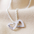 Lisa Angel Ladies' Stamped Personalised Mini Sterling Silver Family Names Heart Necklace