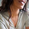 Lisa Angel Sterling Silver Swirl Pendant Necklace on Model