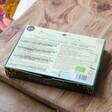 Back of Booja Booja Box of 8 Vegan Salted Caramel Truffles Box