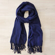 Men's Personalised 'Father's Day' Embroidered Coordinates Lambswool Scarf