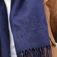 Personalised 'Father's Day' Embroidered Coordinates Lambswool Scarf