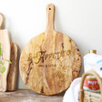 Lisa Angel Personalised 'Buon Appetito' Round Olive Wood Pizza Board