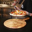 Personalised Engraved 'Buon Appetito' Round Olive Wood Pizza Board