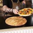 Father's Day Personalised 'Buon Appetito' Round Olive Wood Pizza Board