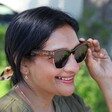 Lisa Angel with Powder Limited Edition Marnie Sunglasses on Model