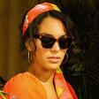 Lisa Angel Powder Limited Edition Marnie Sunglasses on Model