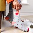 Lisa Angel Powder Puppy Love Ankle Socks