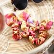 Lisa Angel Ladies' Colourful Powder Set of Two Poppy Bright Scrunchies