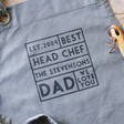 Personalised 'Best Head Chef' Grey Apron