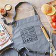 Men's Personalised 'Best Head Chef' Grey Apron