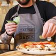 Lisa Angel Personalised 'Best Head Chef' Grey Apron