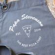 Men's Personalised 'Best Pizza Chef' Grey Apron