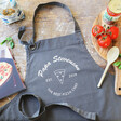 Lisa Angel Personalised 'Best Pizza Chef' Grey Apron