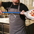 Personalised 'Best Pizza Chef' Grey Apron for Him