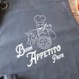 Personalised 'Buon Appetito' Grey Apron