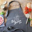 Lisa Angel Personalised 'Buon Appetito' Grey Apron