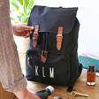 Father's Personalised Initials Canvas Laptop Rucksack