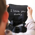 Personalised 'Your Drawing' Hidden Message Canvas Laptop Rucksack for Him