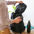 Men's Personalised 'Your Drawing' Hidden Message Canvas Laptop Rucksack