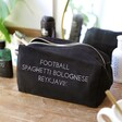 Personalised 'Favourite Things' Black Canvas Bag on Dresser