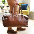 Personalised Hidden Message Weekend Holdall with Model