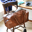 Faux Leather Personalised Hidden Message Weekend Holdall