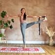 Model Using 2 in 1 Yoga Belt and Sling in Black