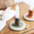 Sass & Belle Ceramic Green Mojave Glaze Candle Holder