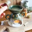 Sass & Belle Green Stone Mojave Glaze Oil Burner for the Home