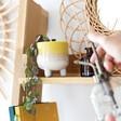 Sass & Belle Small Mojave Glaze Yellow Planter