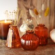 Sass & Belle Set of Three Small Amber Glass Bud Vases