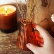 Tapered Sass & Belle Amber Glass Bud Vase