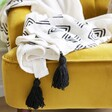 Large Soft Sass & Belle Triangle Block Print Throw Blanket on Chair