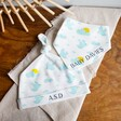 Soft Personalised Skylark Organic Cotton Hat and Bib Set with initials and name