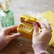 Small Mustard Yellow 21st Birthday Petite Travel Ring Box