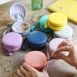 Lisa Angel Range of Colourful Personalised 21st Birthday Mini Round Travel Jewellery Case