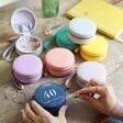 Lisa Angel Range of Colourful Personalised 40th Birthday Mini Round Travel Jewellery Case