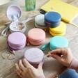 Lisa Angel Range of Colourful Personalised 50th Birthday Mini Round Travel Jewellery Case