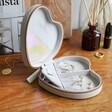 Lisa Angel Ladies' Grey Personalised Birth Flower Heart Travel Jewellery Case